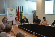 Acic recebeu presidente da Facisc nesta segunda-feira