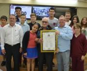 Moção de aplauso ao Sr. Elias Darós em Criciúma