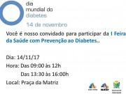 Siderópolis realiza Primeira Feira da Saúde com prevenção ao Diabetes