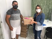 Secretaria de Saúde recebe doação de máscaras da empresa Giassi.com