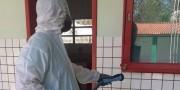 Escolas da rede estadual passam por sanitização no Município de Içara