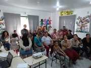 Grupo do PAIF e APAE de Siderópolis recebem palestra sobre prevenção de deficiências