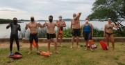Sábado foi dia de nadar no Lago Guaíba para o Projeto Nadando Pelos Cartões Postais
