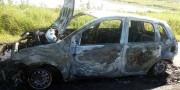 Fiesta é totalmente destruído por incêndio na BR-101 no Município de Sangão