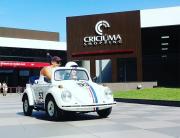 Mini fuscas são a atração do fim de semana no Criciúma Shopping