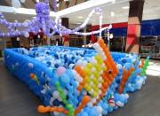 Oceano de balões encanta crianças e adultos no Criciúma Shopping