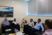 Acic discute demandas da região com o presidente da Alesc
