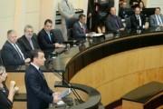 Governador reafirma compromissos de gestão em leitura de mensagem na Alesc