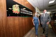 Daniela Reinehr visita presidentes da Alesc e do Tribunal de Justiça de Santa Catarina