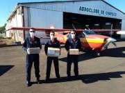 Aviões do Corpo de Bombeiros transportam materiais para o combate à pandemia