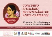 Bicentenário de Anita Garibaldi: concurso literário tem inscrições abertas