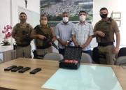 PM de Siderópolis recebe armamento para reforçar a segurança
