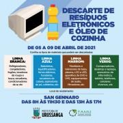 Próxima semana inicia projeto Coleta Consciente no Município de Urussanga