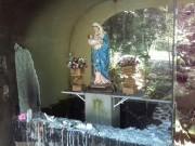Vândalos depredam Gruta de Nossa Senhora da Divina Providência