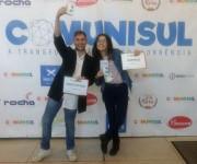 Estudantes de Jornalismo da Unisul são premiados no 1º Comunisul