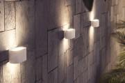 Cores variadas e linhas retas são tendências para iluminação externa