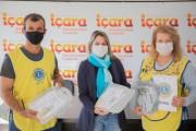 Secretaria de Saúde de Içara recebe doação de 70 máscaras do Lions e Sinplasc