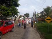 Evangélicos realizam passeata no Bairro Cristo Rei em Içara