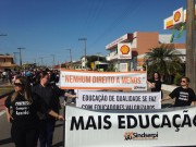 Professores realizam manifestação em Balneário Rincão