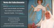 NOTA DE FALECIMENTO - Irmã Maria Luisa Contotti