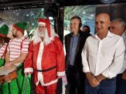 Papai Noel chega e encanta o Balneário Rincão