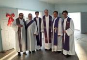 Pastoral Presbiteral visita o missionário padre Valmor Della Giustina