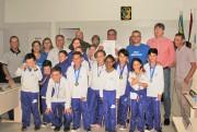 Enxadristas medalhistas de Rincão recebem homenagem na Câmara