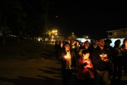 Centenas de jovens caminharam rumo ao Santuário SCMJ