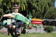 Vinhos esperam o público na Praça Anita Garibaldi