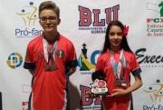 João Vinícius e Maria Clara trazem bons resultados de Blumenau