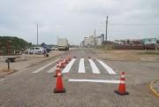 Pintura das faixas de pedestre é reforçada