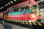 Trem de Natal inicia o trajeto com o Papai Noel nesta quarta-feira