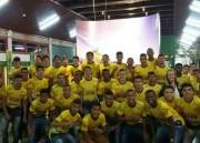 Atletas da base do Criciúma visitam a Unesc