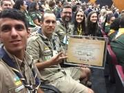 Escoteiros de Siderópolis participam de Congresso Estadual em Nova Veneza