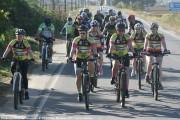 As meninas ciclistas superaram os limites neste domingo