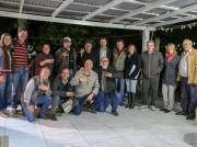 Evandro Scaini é recebido por amigos em Jacinto Machado