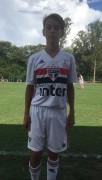 Ex-atleta da FME de Içara treina no São Paulo Futebol Clube