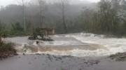 Chuva causa alagamentos e estragos no Município de Jacinto Machado