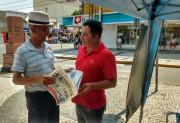 Jair Anastácio presta contas no calçadão de Araranguá