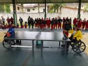 Alunos da escola Lúcia de Lucca recebem visita dos paratletas da Judecri