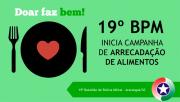 19º BPM inicia campanha de arrecadação de alimentos