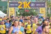 Meia Maratona Caixa cruza a linha de chegada com maestria