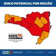 Matriz de Risco aponta nove regiões em estado gravíssimo e sete em nível grave