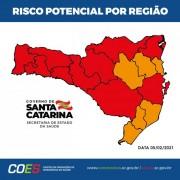 Matriz classifica 10 regiões em estado gravíssimo e seis em nível grave para Covid-19