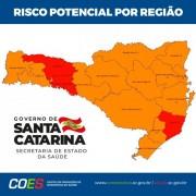 Governo de SC divulga nova matriz de risco com três regiões em estado gravíssimo
