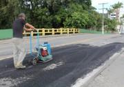 Secretaria de Obras de Urussanga realiza operação tapa buracos