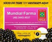 Mundial Farma firma parceria com o Clube Carvoeiro