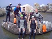 Projeto Nadando Pelos Cartões Postais volta aos treinos em Rio Grande do Sul