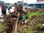 Drenagem pluvial é readequada no bairro Presidente Vargas