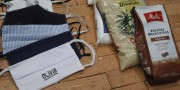 Olívia Revestimento doará máscara de tecido em troca de um quilo de alimento